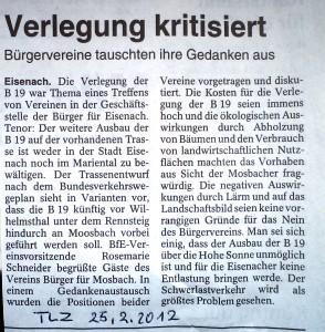 Treffen Bürger für Eisenach